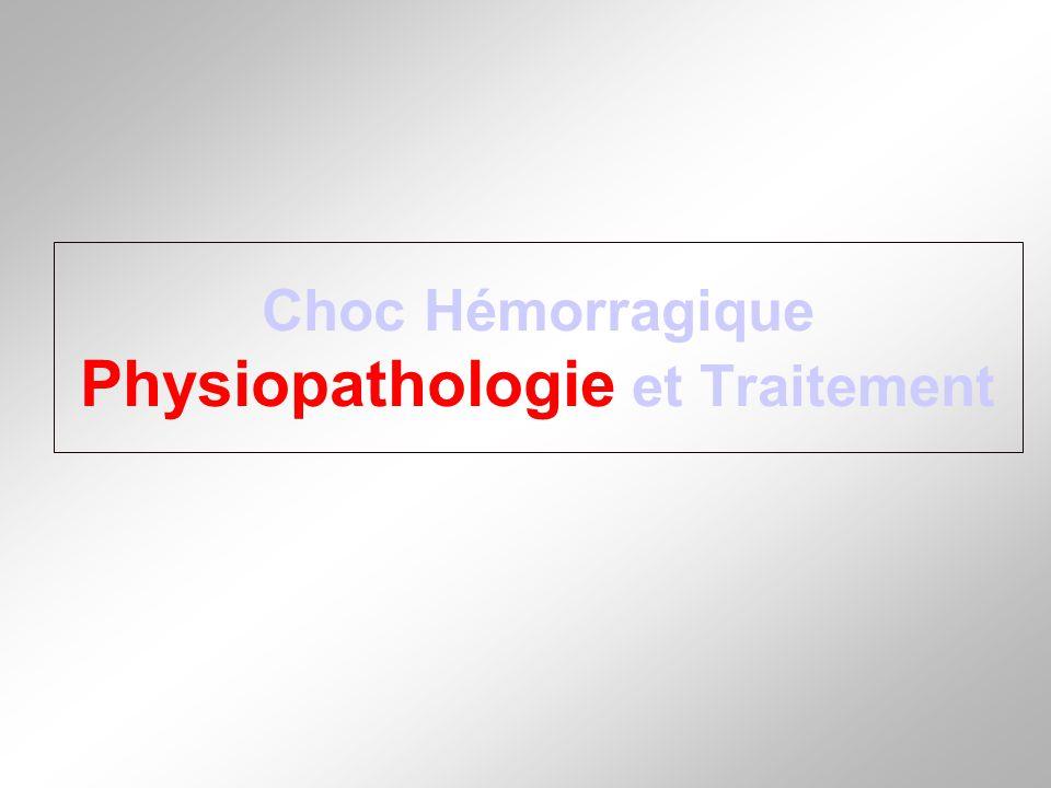 Choc Hémorragique Physiopathologie et Traitement
