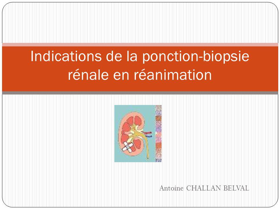 Antoine CHALLAN BELVAL Indications de la ponction-biopsie rénale en réanimation