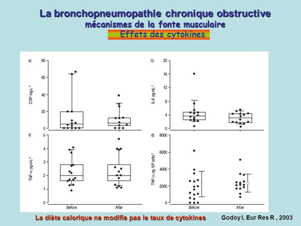 Godoy I, Eur Res R, 2003 La bronchopneumopathie chronique obstructive mécanismes de la fonte musculaire La bronchopneumopathie chronique obstructive m