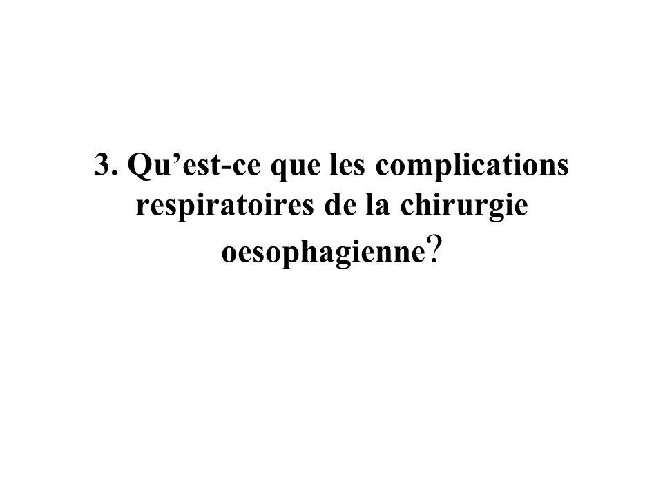3. Quest-ce que les complications respiratoires de la chirurgie oesophagienne ?