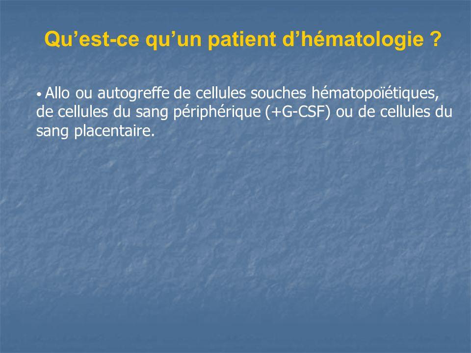 Quest-ce quun patient dhématologie .