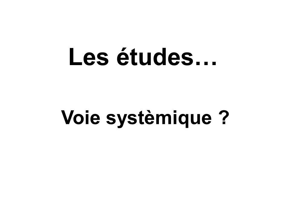 Les études… Voie systèmique ?