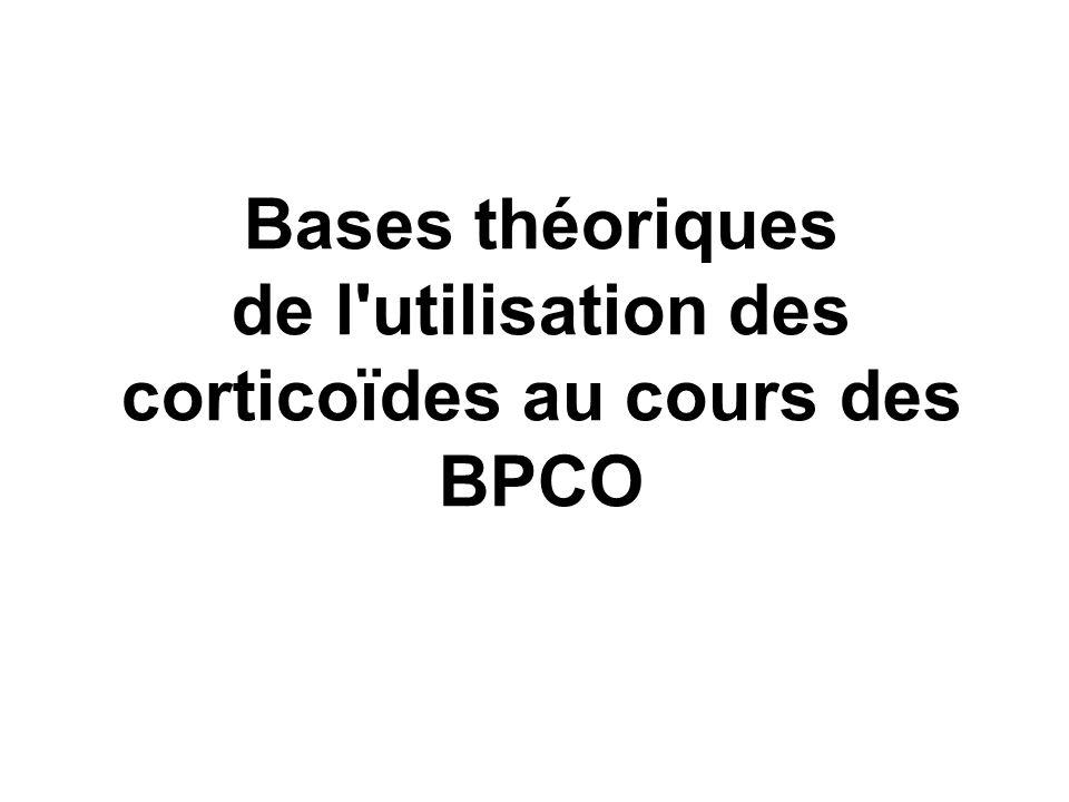 Bases théoriques de l'utilisation des corticoïdes au cours des BPCO