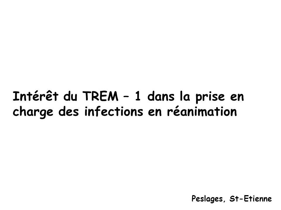 Intérêt du TREM – 1 dans la prise en charge des infections en réanimation Peslages, St-Etienne