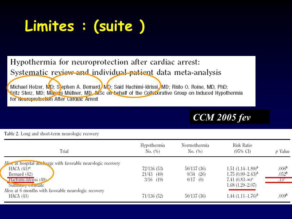 Limites : (suite ) CCM 2005 fev