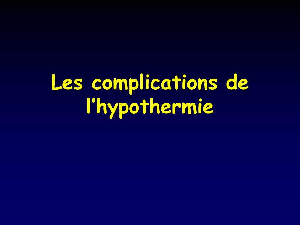 Les complications de lhypothermie