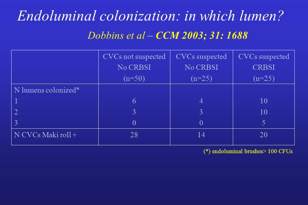 Endoluminal colonization: in which lumen.