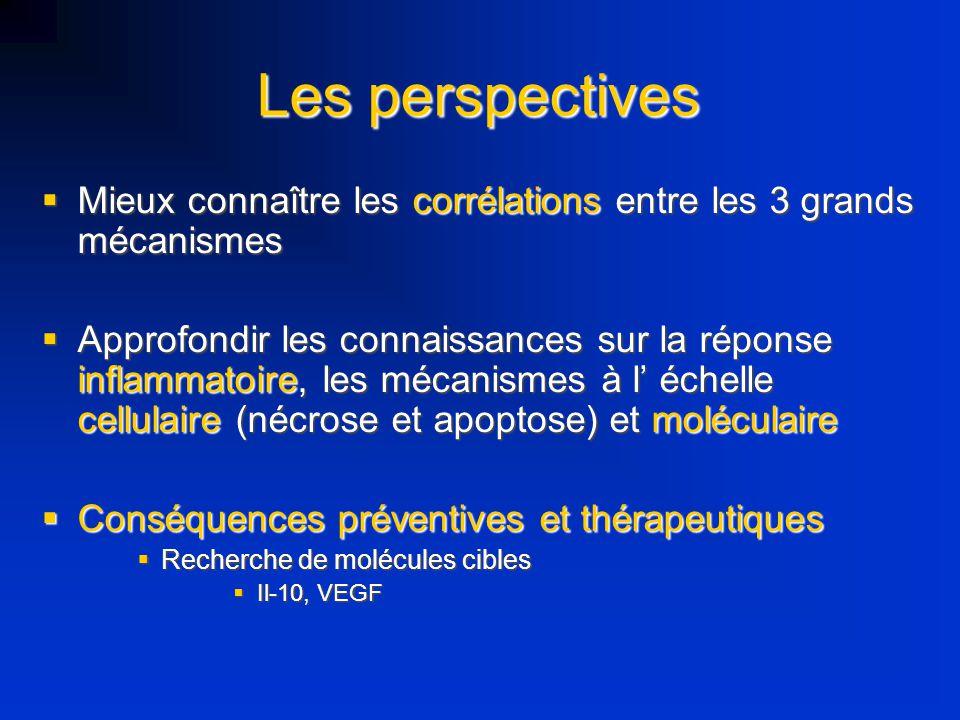 Les perspectives Mieux connaître les corrélations entre les 3 grands mécanismes Mieux connaître les corrélations entre les 3 grands mécanismes Approfo