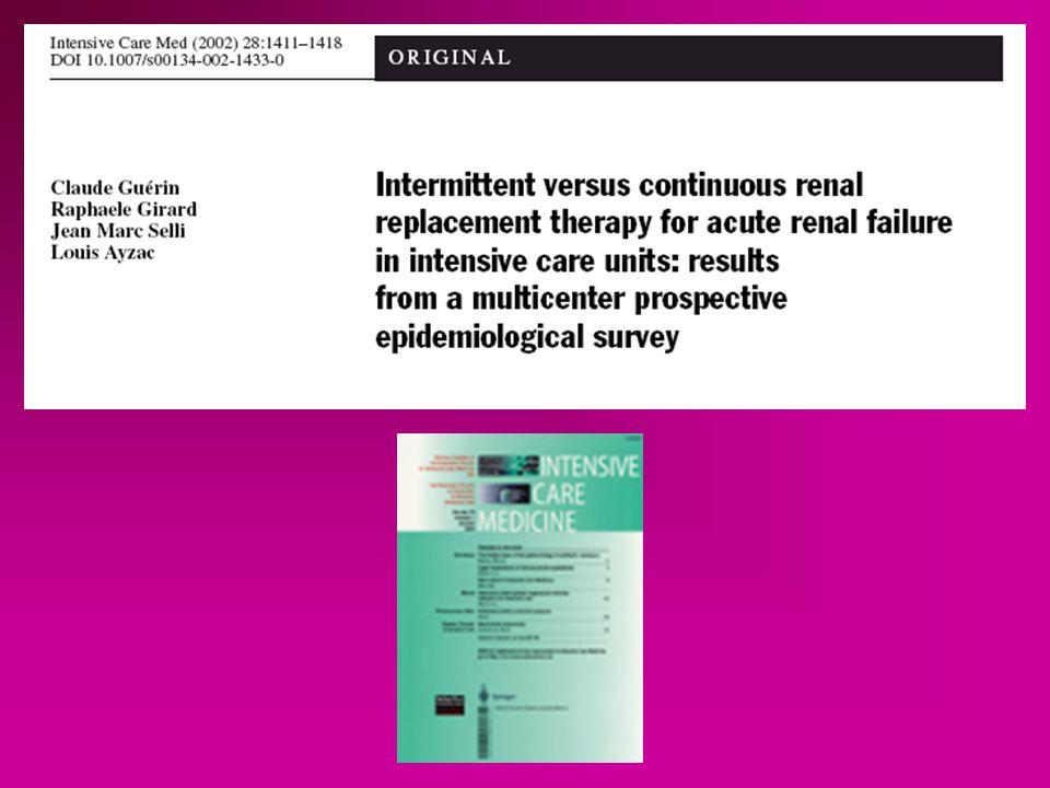 Hémodynamique instable Refus Autre étude Matériel et Méthodes 84 % CVVHDF 16% CAVHDF 14 32