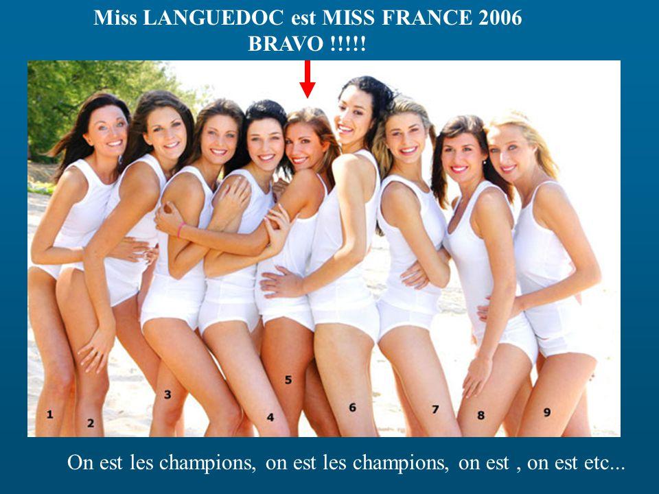 Miss LANGUEDOC est MISS FRANCE 2006 BRAVO !!!!.