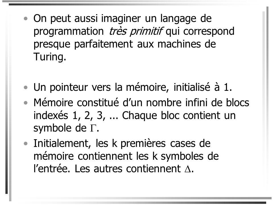 ... ou cette description haut-niveau dun algorithme pour cette tâche. M = Entrée w; 1.Vérifier que w a*b*c*; 2.Compter le nombre de a, de b et de c da