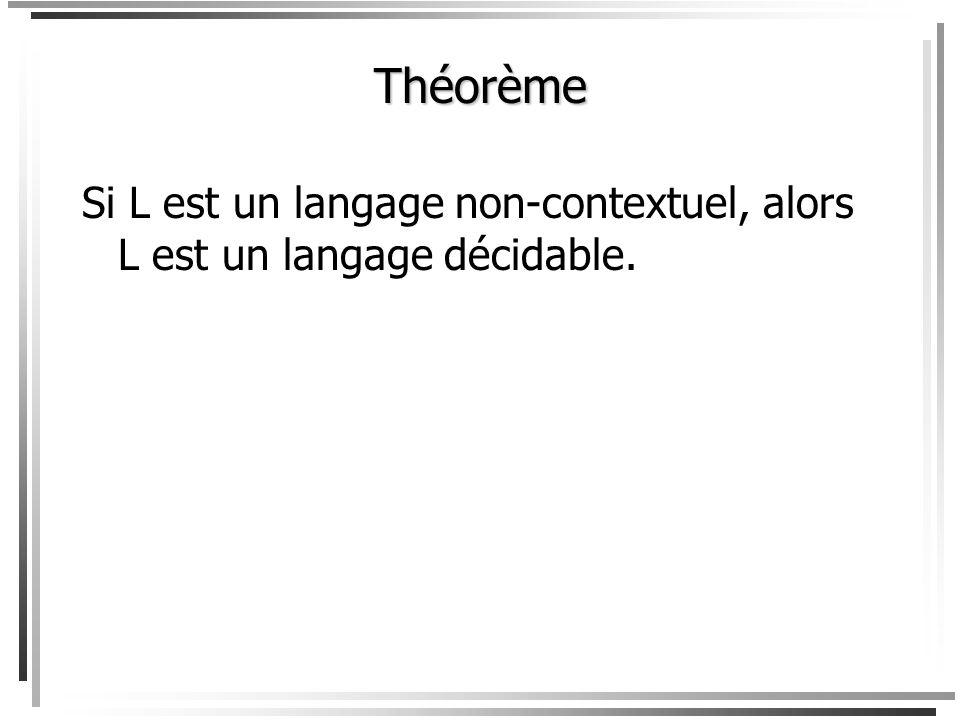 Note: par définition, tout les langages décidables sont également des langages Turing-acceptables. Par contre, nous verrons que linverse nest pas vrai