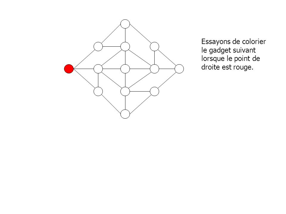 Essayons de colorier le gadget suivant lorsque le point de droite est rouge.