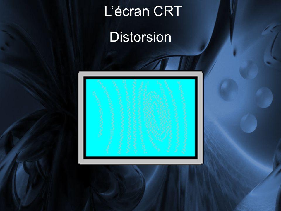 Distorsion Lécran CRT