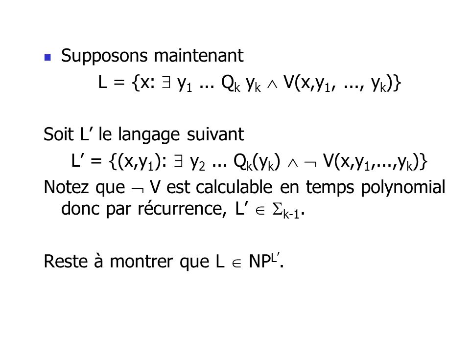 Supposons maintenant L = {x: y 1...
