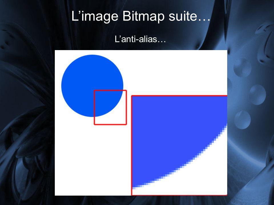 Limage Bitmap suite… Lanti-alias…