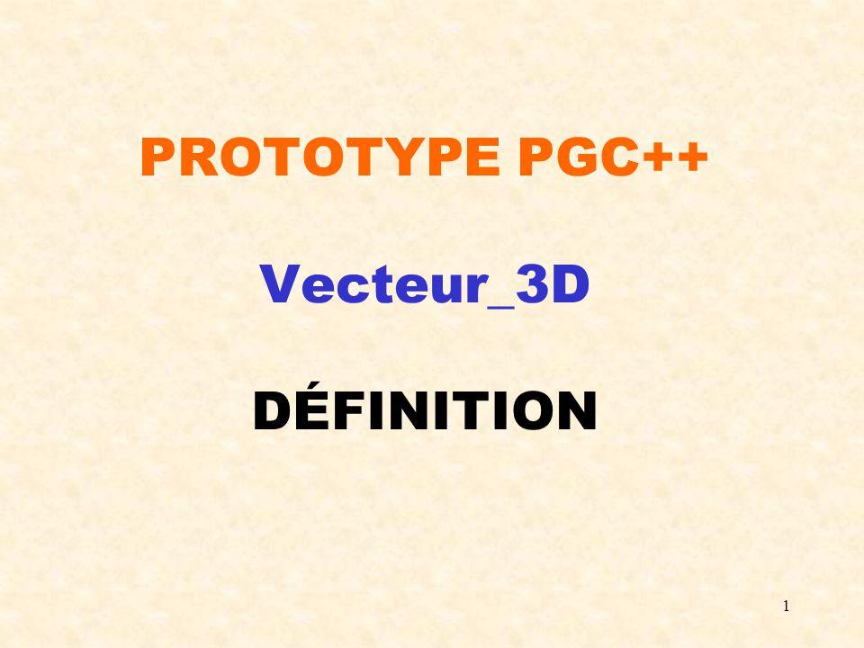 1 PROTOTYPE PGC++ Vecteur_3D DÉFINITION