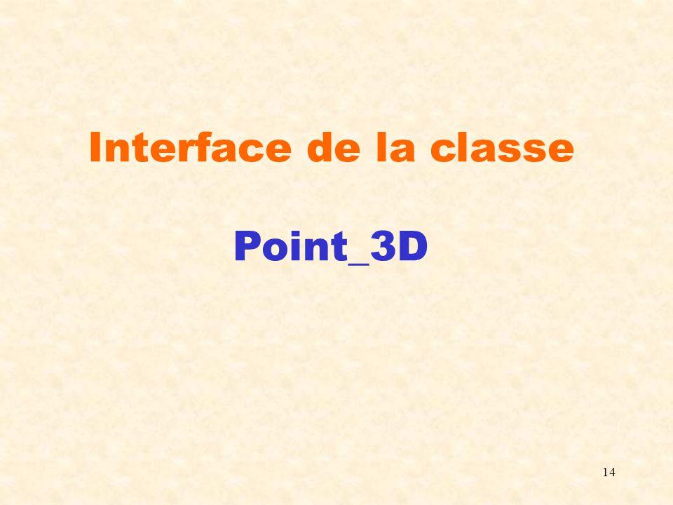 14 Interface de la classe Point_3D