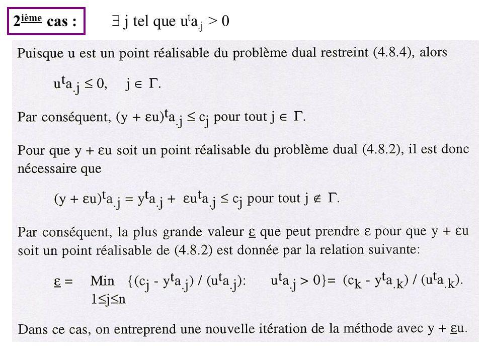 41 2 ième cas : j tel que u t a.j > 0
