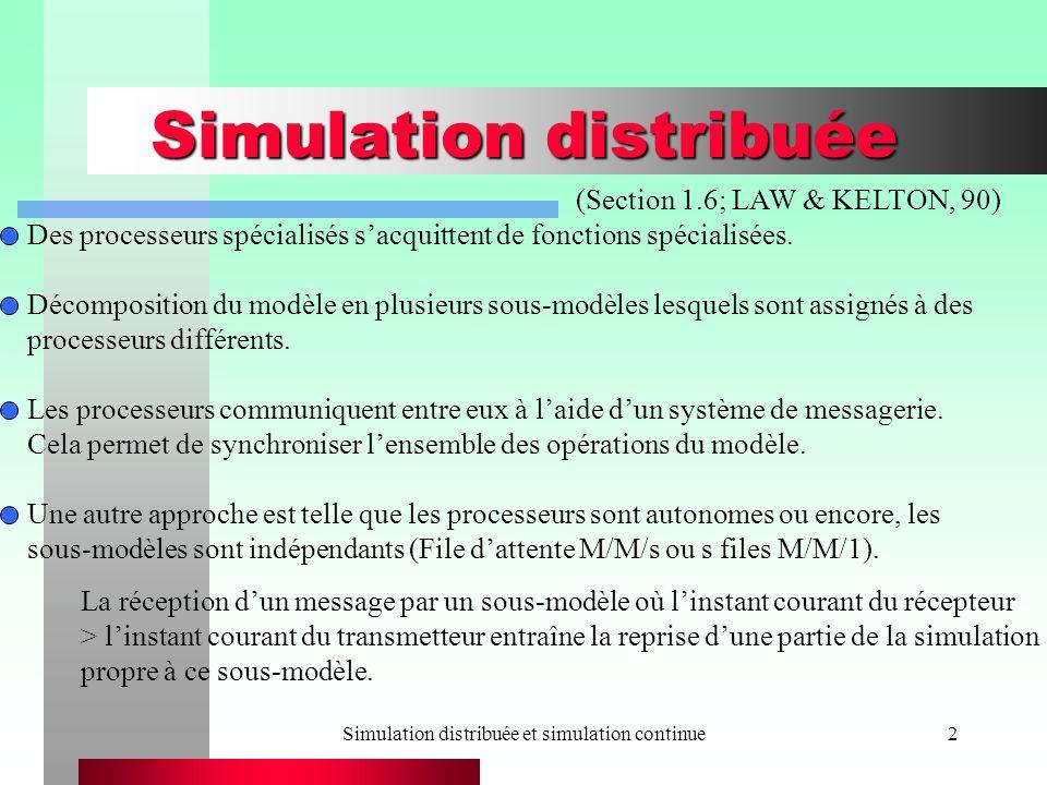 Simulation distribuée et simulation continue13 Un système proie-prédateur exemple (N = 100 000)