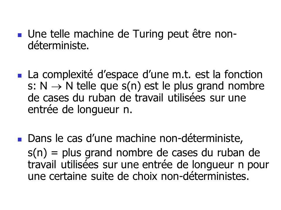 Une telle machine de Turing peut être non- déterministe.