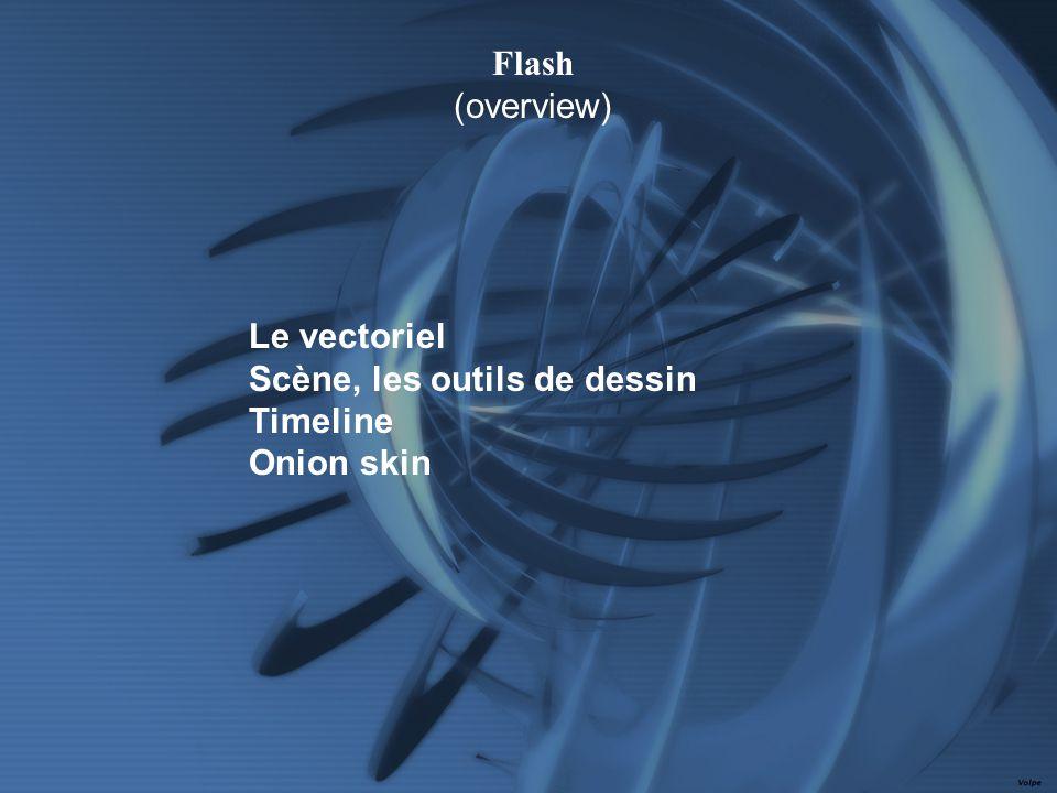 Le vectoriel Scène, les outils de dessin Timeline Onion skin Flash (overview)
