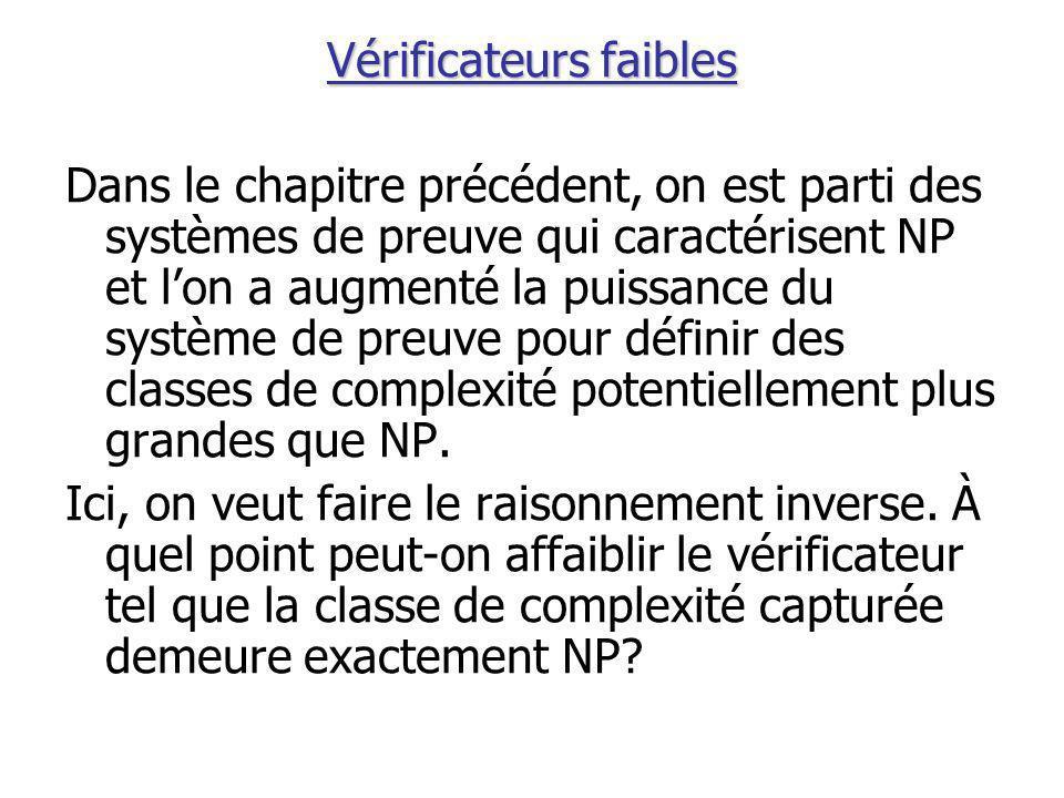 Un test aléatoire Formellement, soit p j le terme de p correspondant à la clause C j.