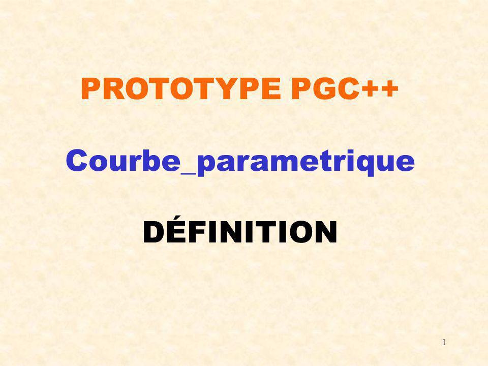 2 #include Point_3D.h enum type_de_courbe_parametrique {constante_3D,segment_3D, conique,courbe_de_Bezier, courbe_de_Hermite, B_Spline_quadratique_uniforme_elementaire, B_Spline_cubique_uniforme_elementaire, courbe_parabolique, courbe_parametrique_quelconque}; /*Une classe abstraite permettant de définir et de manipuler des courbes 3D dans l espace paramétrique [0,1] est créée.