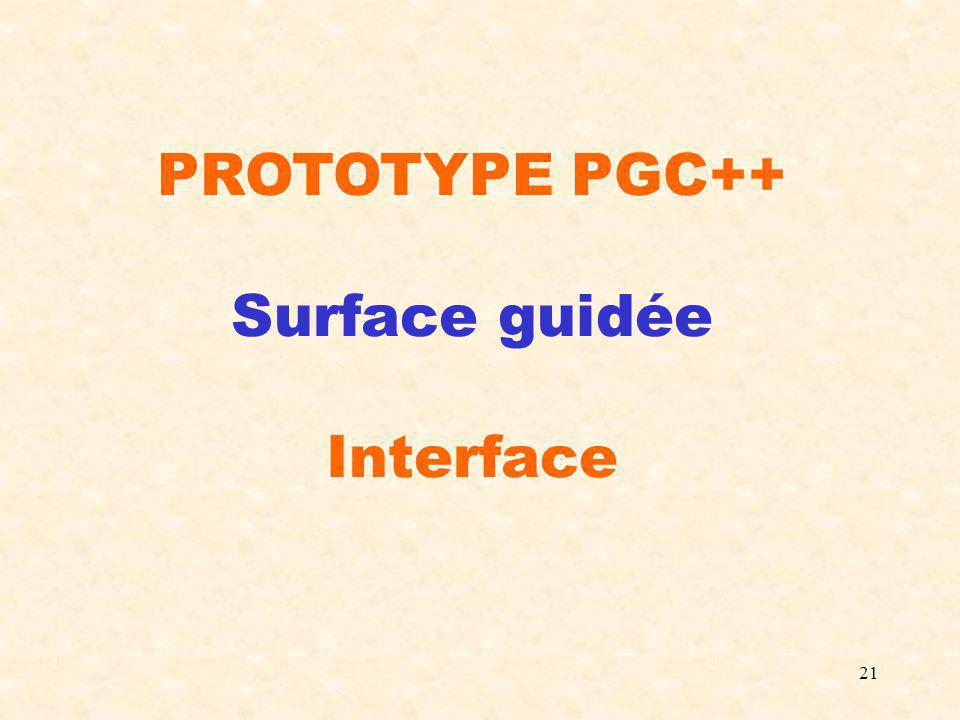 21 PROTOTYPE PGC++ Surface guidée Interface