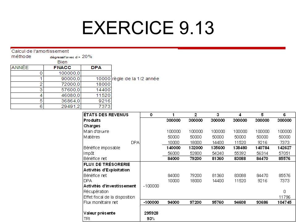 EXERCICE 9.13