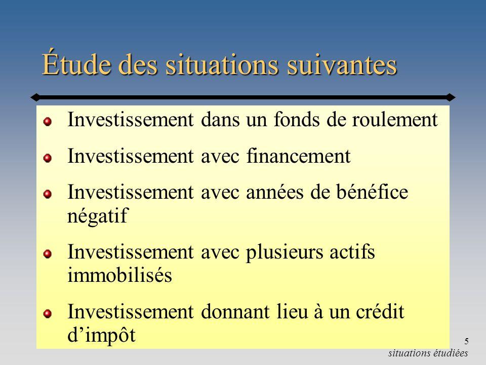 Chapitre 9-b6 Exemple 9.3 : Investissement FDR Tableau 9.4, p.587 [Soucy, Yargeau] FDR