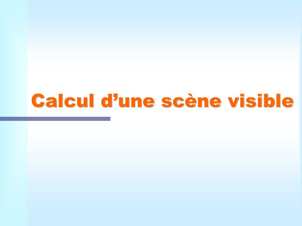 Calcul dune scène visible
