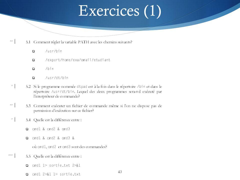 43 Exercices (1)