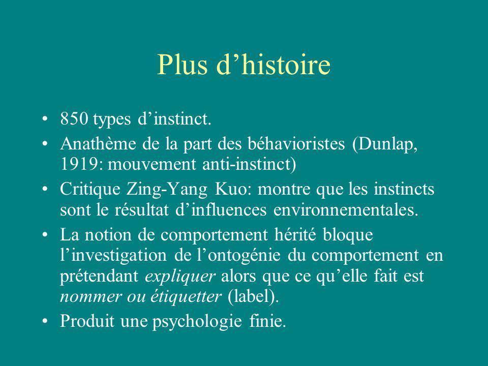 Plus dhistoire 850 types dinstinct.