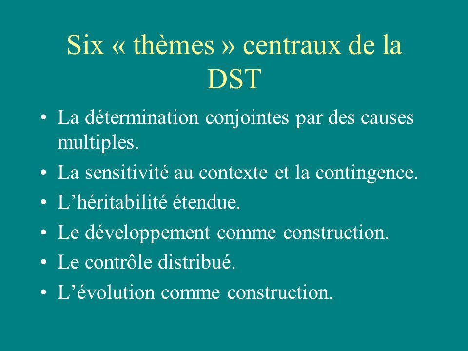 La détermination conjointe Chaque trait est produit par linteraction de plusieurs ressources développementales.