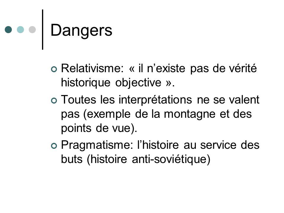 Dangers Relativisme: « il nexiste pas de vérité historique objective ».