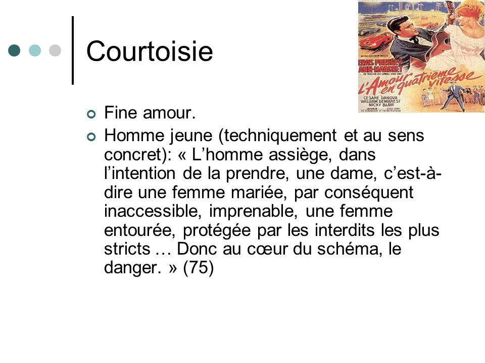 Courtoisie Fine amour.