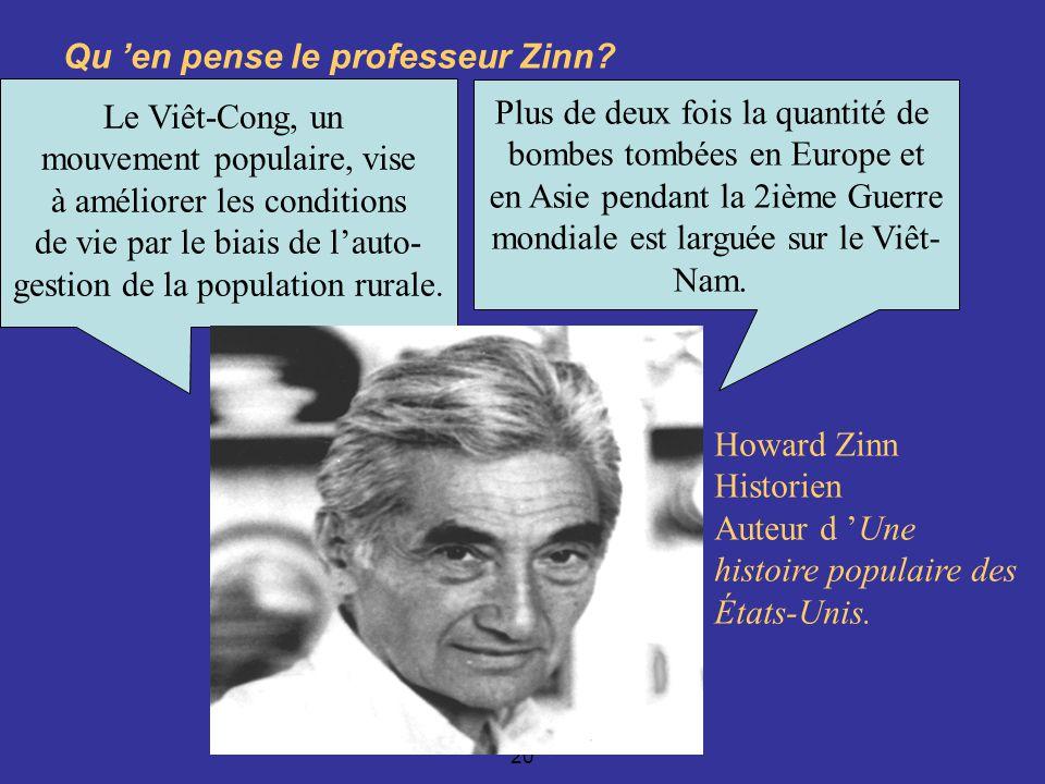 Robert Aird, EDU 7492, Groupe 20 Qu en pense le professeur Zinn.
