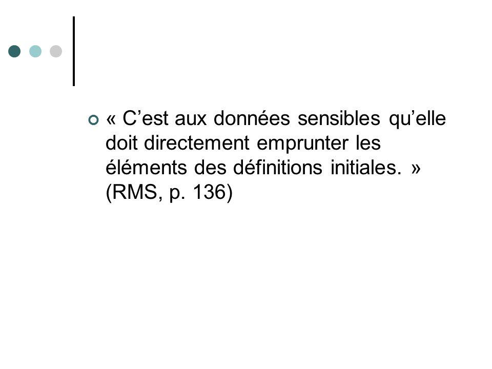 « Cest aux données sensibles quelle doit directement emprunter les éléments des définitions initiales.