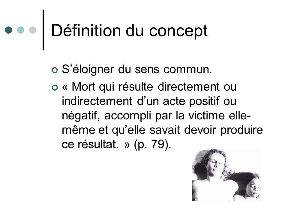 Définition du concept Séloigner du sens commun.