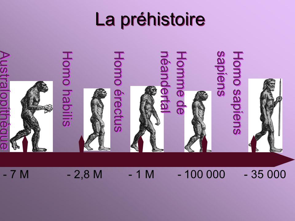 Ligne du temps - 3 M à - 3300 -3500 à 476 à 1492 à 1789 à aujourdhui