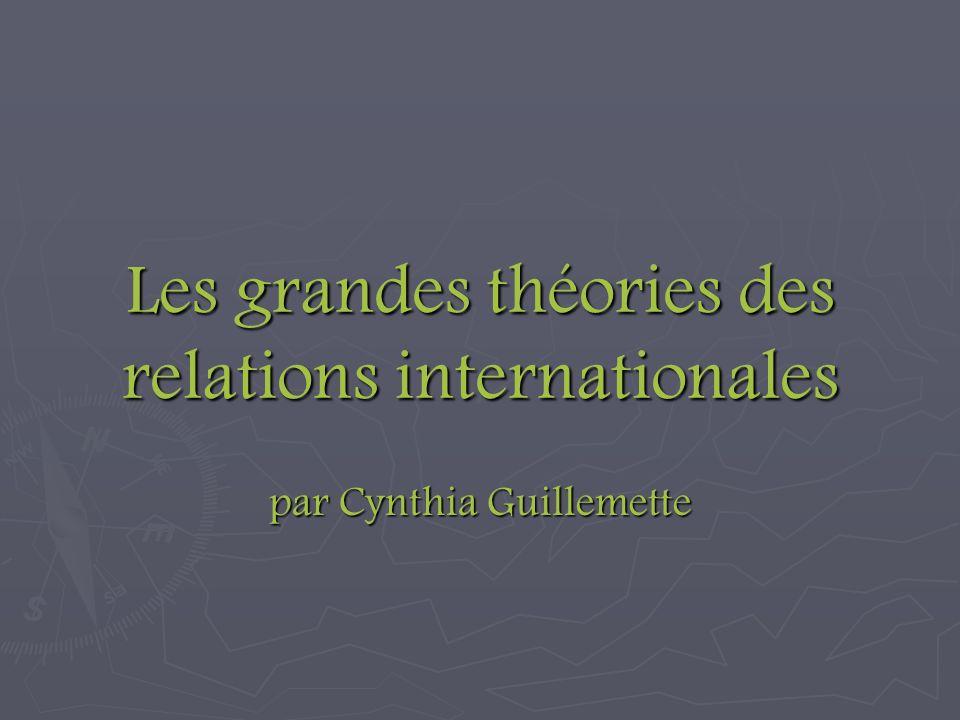Les grandes théories des relations internationales par Cynthia Guillemette
