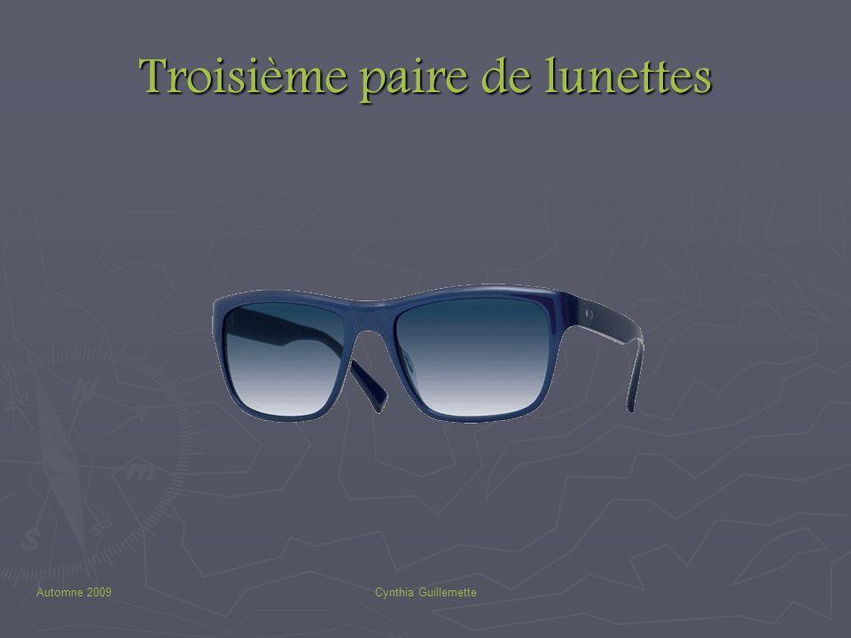 Automne 2009Cynthia Guillemette Troisième paire de lunettes