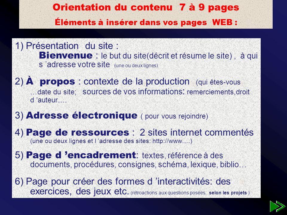 Crédibilité du site…date de création Ergonomie du site: facilité de navigation...