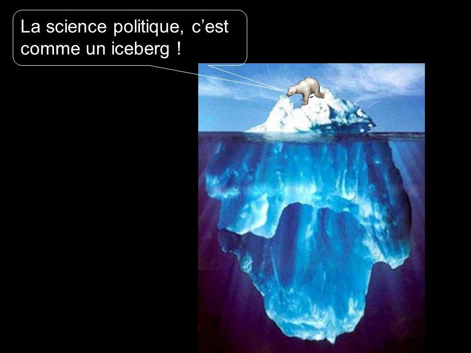 La science politique, cest comme un iceberg !