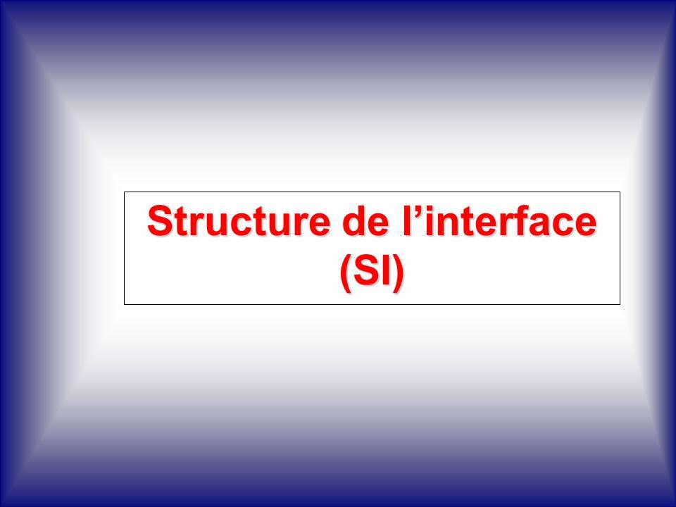 Structure de linterface (SI)
