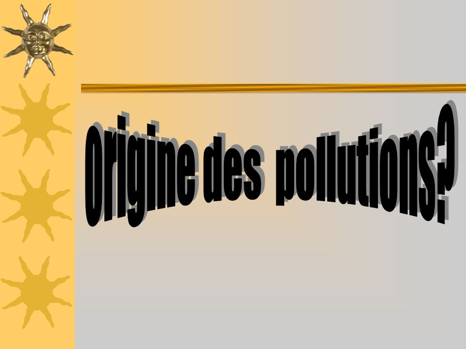 La pollution: origines et conséquences Nos villes sont-elles polluées?