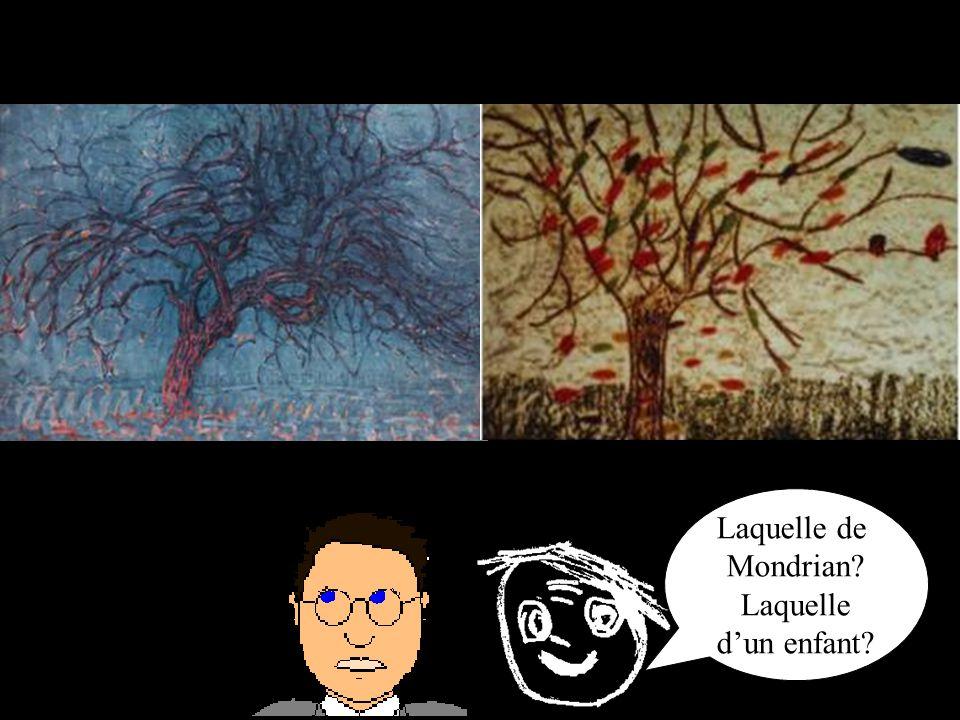 Laquelle de Mondrian? Laquelle dun enfant?