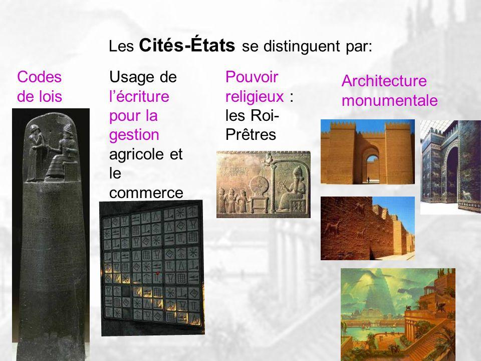 Villages Villes Cités-États Quelques Cités-États simposent dans leur région. Dautres construisent des empires.
