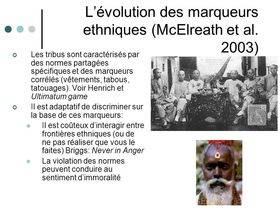Lévolution des marqueurs ethniques (McElreath et al.